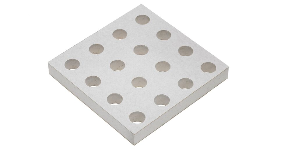 Perforated plasterboard which combines superior sound absorption